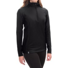 Ibex Woolies 3 Hooded Base Layer Top - Zip Neck, Long Sleeve (For Women) in Black - Closeouts