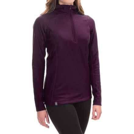 Ibex Woolies 3 Hooded Base Layer Top - Zip Neck, Long Sleeve (For Women) in Wicked Dark - Closeouts