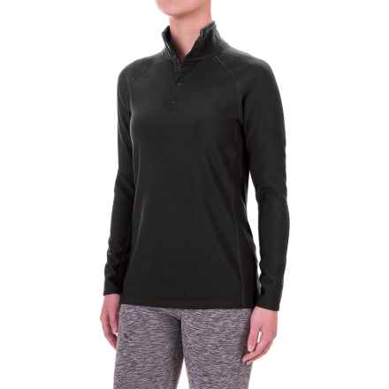 Ibex Woolies 3 Snap Neck Base Layer Top - Long Sleeve (For Women) in Black - Closeouts