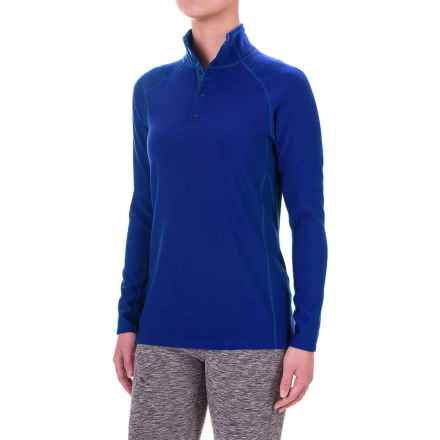 Ibex Woolies 3 Snap Neck Base Layer Top - Long Sleeve (For Women) in Blue Glacier - Closeouts