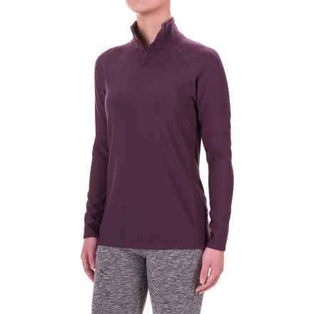 Ibex Woolies 3 Snap Neck Base Layer Top - Long Sleeve (For Women) in Wicked Dark - Closeouts