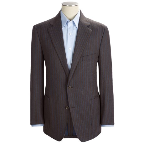 Ibiza Stripe Sport Coat - Wool (For Men) in Brown