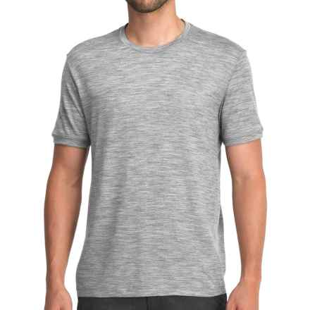 Icebreaker 150 Tech T-Lite Shirt - UPF 30+, Merino Wool, Short Sleeve (For Men) in Metro Heather - Closeouts
