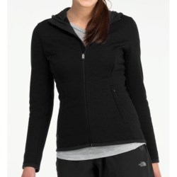 Icebreaker 320 RealFleece Igloo Hoodie Shirt - Merino Wool, Full Zip, Long Sleeve (For Women) in Black