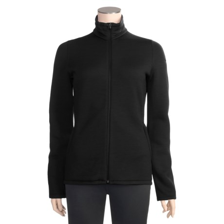 Icebreaker 320 RealFleece Igloo Shirt - Merino Wool, Full Zip, Long Sleeve (For Women) in Black