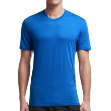 Icebreaker Aero Crewe Running Shirt - UPF 20+, Merino Wool, Short Sleeve (For Men) in Awesome/Carbon - Closeouts