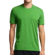 Icebreaker Aero Crewe Running Shirt - UPF 20+, Merino Wool, Short Sleeve (For Men) in Lawn/Monsoon - Closeouts