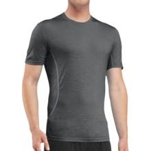 Icebreaker Aero Crewe Running Shirt - UPF 20+, Merino Wool, Short Sleeve (For Men) in Monsoon/Mineral - Closeouts