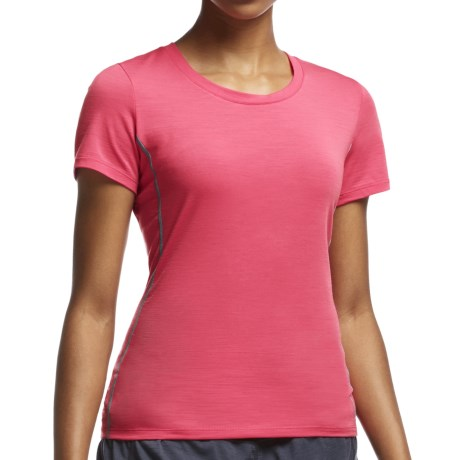Icebreaker Aero Running Shirt UPF 20+, Merino Wool, Short Sleeve (For Women)