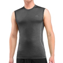 Icebreaker Aero Shirt - Merino Wool, Sleeveless (For Men) in Monsoon/Mineral/Mineral - Closeouts