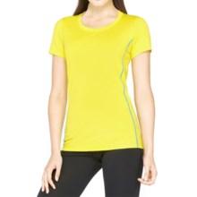 Icebreaker Aero Shirt - UPF 20+, Merino Wool, Short Sleeve (For Women) in Fuse/Force - Closeouts