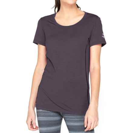 Icebreaker Aero Shirt - UPF 20+, Merino Wool, Short Sleeve (For Women) in Panther/Black - Closeouts