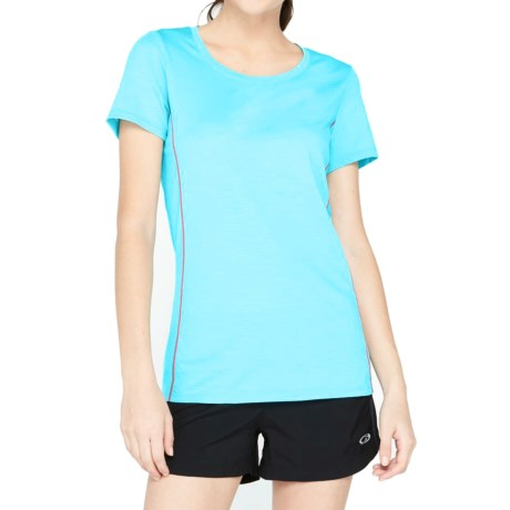 Icebreaker Aero Shirt UPF 20+, Merino Wool, Short Sleeve (For Women)