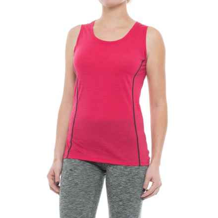 Icebreaker Aero Tank Top - Merino Wool (For Women) in Cherub/Admiral - Closeouts