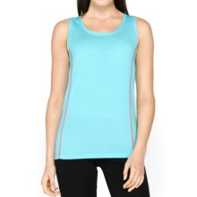 Icebreaker Aero Tank Top - UPF 20+, Merino Wool (For Women) in Water/Shocking - Closeouts