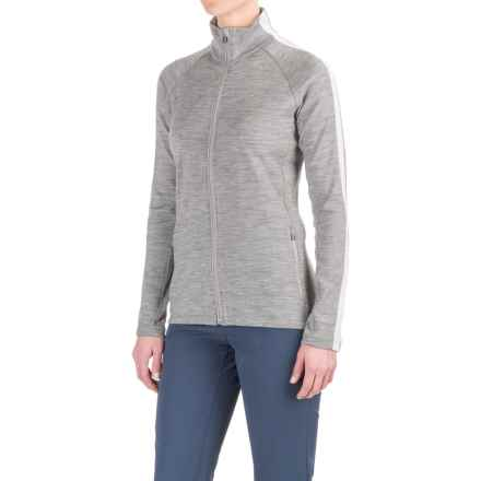 Icebreaker Affinity Zip Shirt Jacket - Merino Wool (For Women) in Metro Heather/Snow/Metro Heather - Closeouts