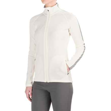 Icebreaker Affinity Zip Shirt Jacket - Merino Wool (For Women) in Snow/Metro Heather/Snow - Closeouts