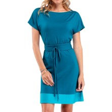 Icebreaker Allure Dress - UPF 30+, Merino Wool, Short Sleeve (For Women) in Cruise/Glacier - Closeouts