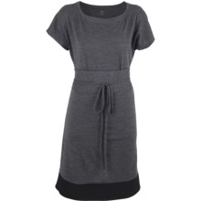 Icebreaker Allure Dress - UPF 30+, Merino Wool, Short Sleeve (For Women) in Jet Heather/Black - Closeouts