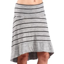 Icebreaker Allure Stripe Skirt - UPF 20+, Merino Wool (For Women) in Metro Heather/Black - Closeouts