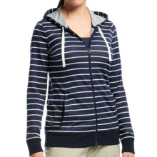 Icebreaker Allure Stripe Zip Hoodie - UPF 20+, Merino Wool (For Women) in Admiral/Snow/Natural - Closeouts