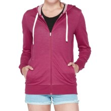 Icebreaker Allure Zip Hoodie - UPF 20+, Merino Wool (For Women) in Raspberry/Natural - Closeouts
