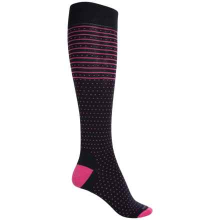 Icebreaker Amelia Lifestyle Socks - Merino Wool, Over the Calf (For Women) in Admiral/Pop Pink - Closeouts
