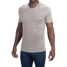 Icebreaker Anatomica Base Layer Top - Merino Wool, V-Neck, Short Sleeve (For Men) in Ivory/White - Closeouts