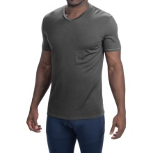 Icebreaker Anatomica Base Layer Top - Merino Wool, V-Neck, Short Sleeve (For Men) in Monsoon/White - Closeouts