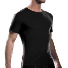 Icebreaker Anatomica Crew Shirt - Merino Wool, Short Sleeve (For Men) in Black/Rocket - Closeouts