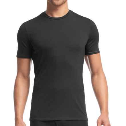 Icebreaker Anatomica T-Shirt - UPF 30+, Merino Wool, Short Sleeve (For Men) in Black/Monsoon - Closeouts