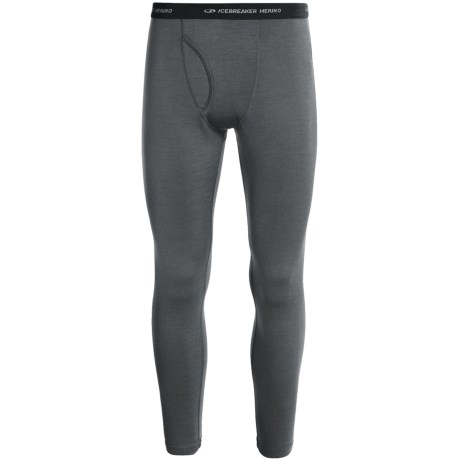 Icebreaker Apex Base Layer Bottoms, Midweight, Merino Wool (For Men) in Cave