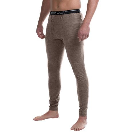 Icebreaker Apex Base Layer Bottoms, Midweight, Merino Wool (For Men) in Trail Heather
