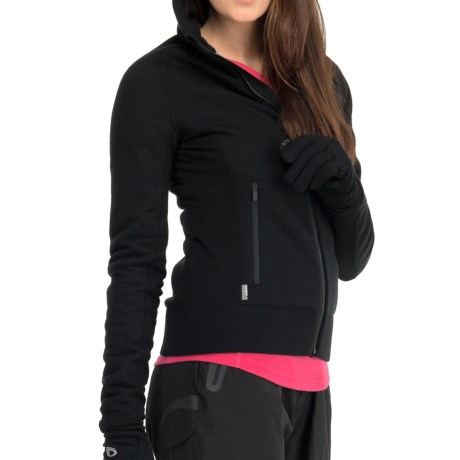 Icebreaker Arctic RealFleece 320 Hooded Jacket - Merino Wool, Full Zip (For Women) in Black