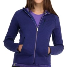 Icebreaker Arctic RealFleece 320 Hooded Jacket - Merino Wool, Full Zip (For Women) in Horizon - Closeouts