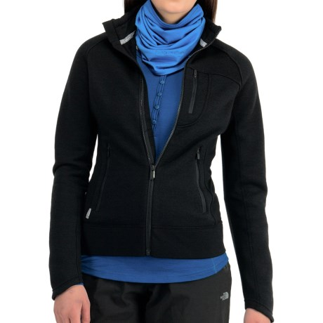 Icebreaker Arctic RealFleece 320 Jacket - Merino Wool, UPF 50+ (For Women) in Black