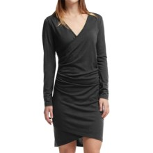 Icebreaker Aria Merino Wool Dress - UPF 30+, Long Sleeve (For Women) in Black - Closeouts