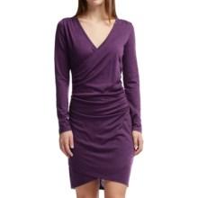 Icebreaker Aria Merino Wool Dress - UPF 30+, Long Sleeve (For Women) in Vino - Closeouts