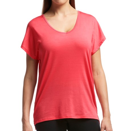 Icebreaker Aria Shirt UPF 20+, Merino Wool, Short Sleeve (For Women)