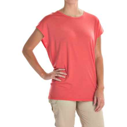 Icebreaker Aria Tunic Shirt - Merino Wool, UPF 20+, Short Sleeve (For Women) in Grapefruit - Closeouts