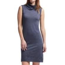Icebreaker Aria Turtleneck Dress - UPF 30+, Merino Wool, Sleeveless (For Women) in Fathom Heather - Closeouts