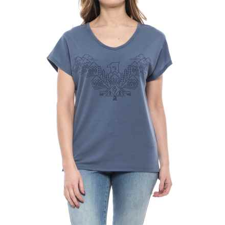 Icebreaker Aria Wing T-Shirt - V-Neck, Short Sleeve (For Women) in Gumtree - Closeouts