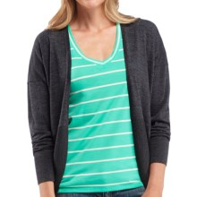 Icebreaker Ariana Wrap - Merino Wool, Long Sleeve (For Women) in Jet Heather - Closeouts