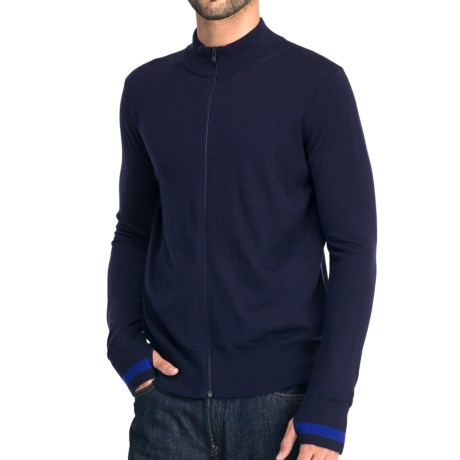 Icebreaker Aries Cardigan Sweater - Merino Wool (For Men) in Admiral/Cobalt