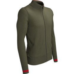 Icebreaker Aries Cardigan Sweater - Merino Wool (For Men) in Cargo/Rocket