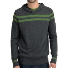 Icebreaker Aries Hooded Shirt - Merino Wool, Long Sleeve (For Men) in Jet/Grass - Closeouts