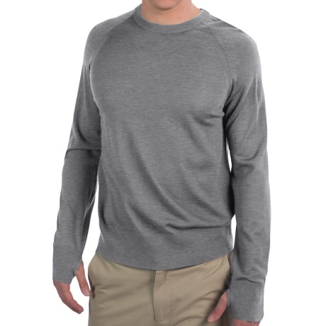 Icebreaker Aries Sweater - Merino Wool, Crew Neck (For Men) in Metro
