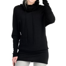 Icebreaker Athena Funnel Neck Shirt - Merino Wool, Long Sleeve (For Women) in Black/Metro - Closeouts