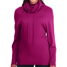 Icebreaker Athena Funnel Neck Shirt - Merino Wool, Long Sleeve (For Women) in Magenta - Closeouts
