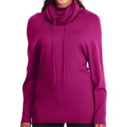 Icebreaker Athena Funnel Neck Shirt - Merino Wool, Long Sleeve (For Women) in Magenta